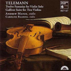 Image for 'Telemann: 12 Fantasias for Violin Solo, Gulliver Suite for Two Violins'