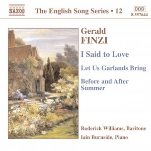 Immagine per 'FINZI: I Said to Love / Let Us Garlands Bring / Before and After Summer'