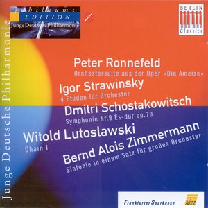 Image for 'Orchestral Music - Ronnefeld, P. / Shostakovich, D. / Lutoslawski, W. / Zimmermann, B.A. (German Youth Philharmonic Jubilee Edition, Vol. 1)'