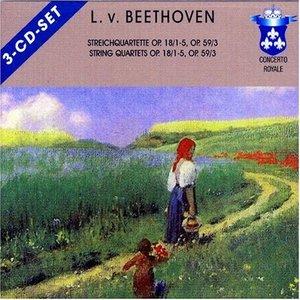 Bild för 'String Quartets op.18 no.5 & op.59 no.1'