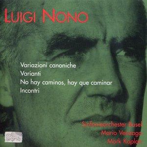 Image for 'Variazioni Canoniche / Varianti / No Hay Caminos, Hay Que Caminar / Incontri (Basel Symphony Orchestra feat conductor: Mario Venzago, violin: Mark Kaplan)'