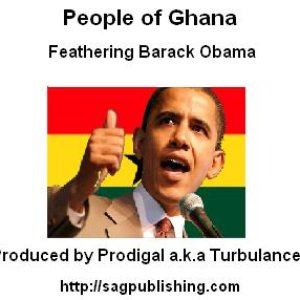 Image for 'People of Ghana..(Feathering President Obama)'