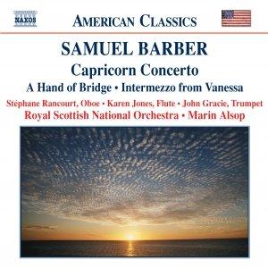 Image pour 'BARBER: Capricorn Concerto / A Hand of Bridge / Canzonetta / Intermezzo'