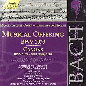 Image for 'Johann Sebastian Bach: The Musical Offering, Canons BWV 1072 - 1078, 1086 & 1087'