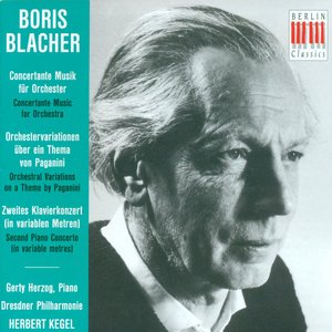 Image for 'Blacher, B.: Concertante Musik / Orchestral Variations On A Theme by Paganini / Piano Concerto No. 2'