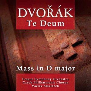 Bild för 'Te Deum, Mass in D major, Biblical Songs Nos.1- 5 (Prague Symphony Orchestra, Czech Philharmonic Chorus, soloists, cond.Václav Smetáček)'