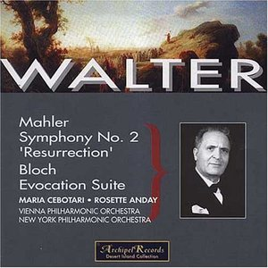 Image for 'Mahler: Symphony No. 2 'Resurrection'; Bloch: Evocation Sutie'