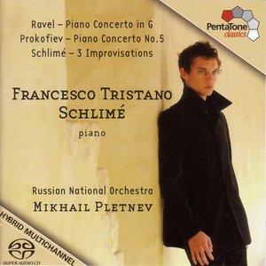 Image for 'Ravel: Piano Concerto in G Major / Prokofiev: Piano Concerto No. 5 / Schlime: 3 Improvisations'