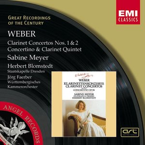 Image for 'Weber : Clarinet Concertos 1 & 2/Concertino in E flat/Clarinet Quintet'