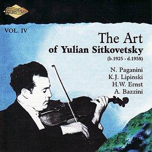 Bild für 'SITKOVETSKY, Yulian: Art of Yulian Sitkovetsky (The), Vol. 4'