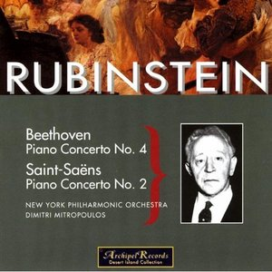 Image pour 'Rubinstein Plays Beethoven, Piano Concerto No. 4; Saint-Saëns, Piano Concerto No. 2'