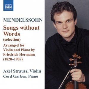 Image for 'MENDELSSOHN: Lieder ohne Worte (Songs Without Words) (arr. F. Hermann for violin and piano)'