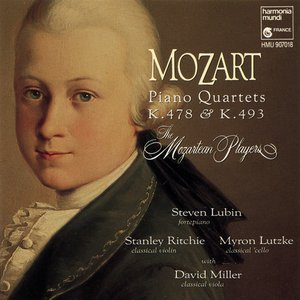 Image for 'Piano Quartets (The Mozartean Players feat. fortepiano: Steven Lubin, violin: Stanley Ritchie, viola: David Miller, cello: Myron Lutzke)'
