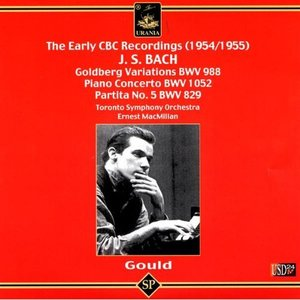 Image for 'Glen Gould Plays Bach Piano Works: Piano Concerto in D Major BWV 1052, Goldberg Variations, Partita No. 5 in G Major BWV 829'