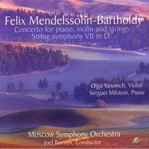Bild für 'Felix Mendelssohn-Bartholdy: Concerto For Piano Violin & Strings / String Symphony VII In D'