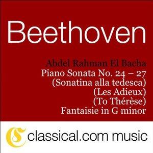 Image for 'Piano Sonata No. 26 in E flat, Op. 81a (Les Adieux / The Farewell) - Abwesenheit: Andante espressivo'