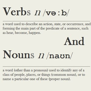 Image for 'Verbs And Nouns'
