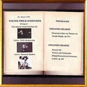 Image pour 'Vienna Philharmonic Orchestra / Wiener Philharmoniker - Joseph Haydn: Variationen über ein Thema, op. 56a; Johannes Brahms: Dopp'