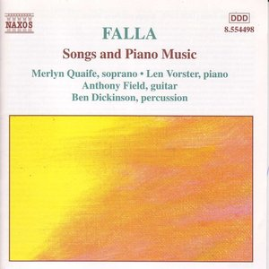 Immagine per 'FALLA: Songs and Piano Music'