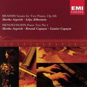 Image for 'Brahms: Sonata for Two Pianos, Op.34b & Mendelssohn: Piano Trio No.1'