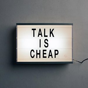 Immagine per 'Talk Is Cheap'