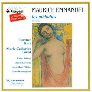 Image for 'Emmanuel, M.: 3 Odelettes Anacreontiques / Musiques / In Memoriam / Vocalise'