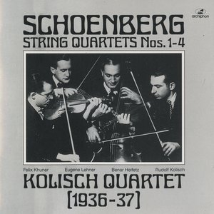 Image for 'Arnold Schoenberg at the conclusion of the first movement of String Quartet No. 2'