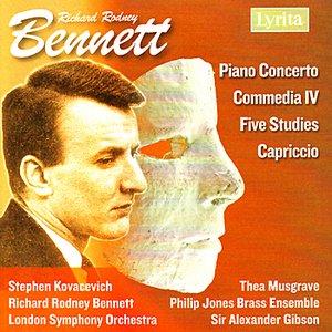 Image for 'Bennett: Piano Concerto, Five Studies for Piano, Capriccio for Piano Duet, Commedia IV'