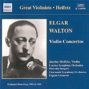 Image for 'ELGAR / WALTON: Violin Concertos (Heifetz) (1941, 1949)'
