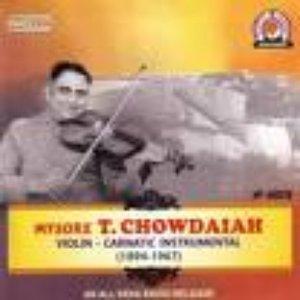 Image pour 'Mysore T. Chowdiah'