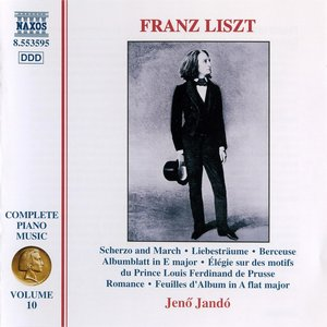 Image pour 'Liszt: Scherzo and March / 3 Liebestraume / Berceuse'