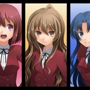 Immagine per 'Aisaka Taiga, Kushieda Minori, Kawashima Ami (Kugimiya Rie, Horie Yui, Kitamura Eri)'