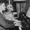 Young Glenn Gould with dog