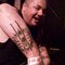 Sean from The Varukers showing off his Scarred For Life tattoo.
