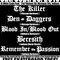 Blood In/Blood Out, The Killer, Beresith, Remember The Passion , Den Of Daggers in Michigan City, Indiana - September 25th, 2010