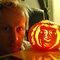 Garret 'Jacknife' Lee and Ryder's pumpkin portrait. Farnham Surrey England. Photo: Ryder Robison.