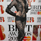 Jessie J Shows Off Her Critics Choice Award Designed By Vivienne Westwood At The Brit Awards 2011 Nominations Party