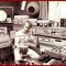 """François Bayle in the studios of GRM 1974, composing \""""Grande Polyphonie\"""""""