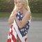 Julianne Hough american flag shoot