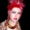Cyndi Lauper with pink hair 1996