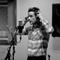 Brandon in the studio.