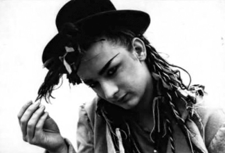 Black and White Boy George