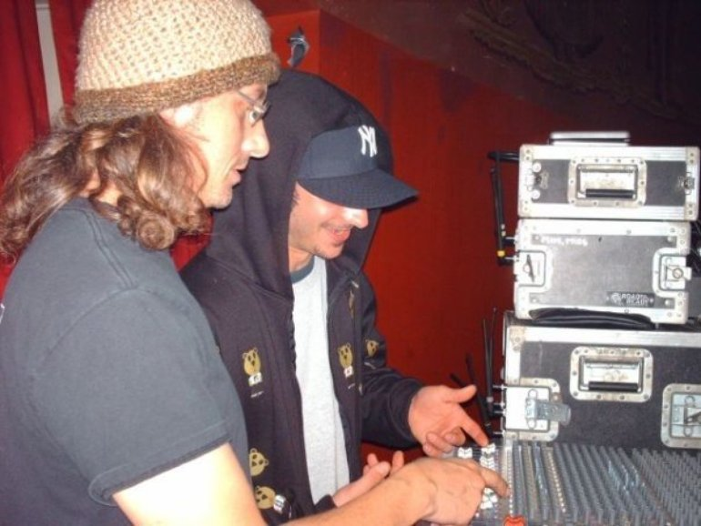 Scott and Oz mixing monitors for Nas.