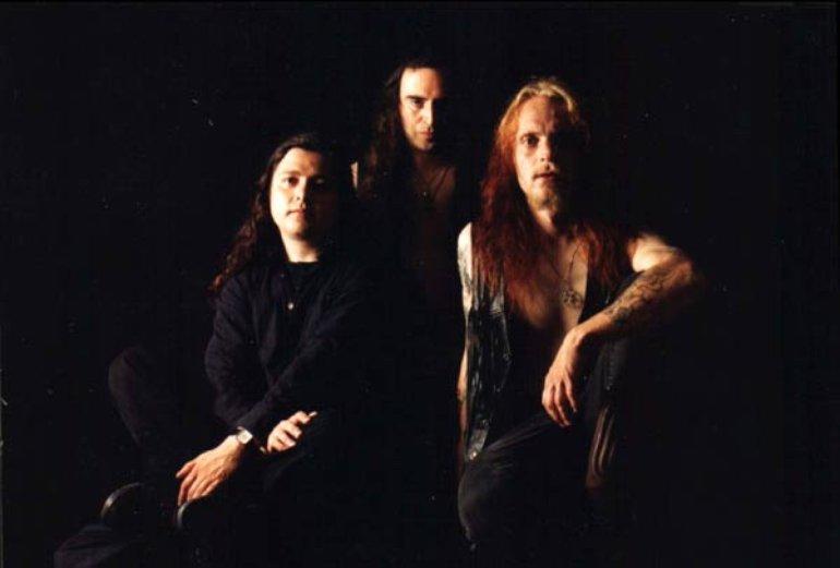 Tristitia'96 Adrian Letelier-Bass, Luis Galvez-Guitars and Keyboards, Thomas Karlsson-Vocals