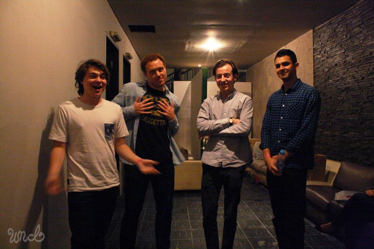 Bombay Bicycle Club at backstage of The People's Party Jakarta