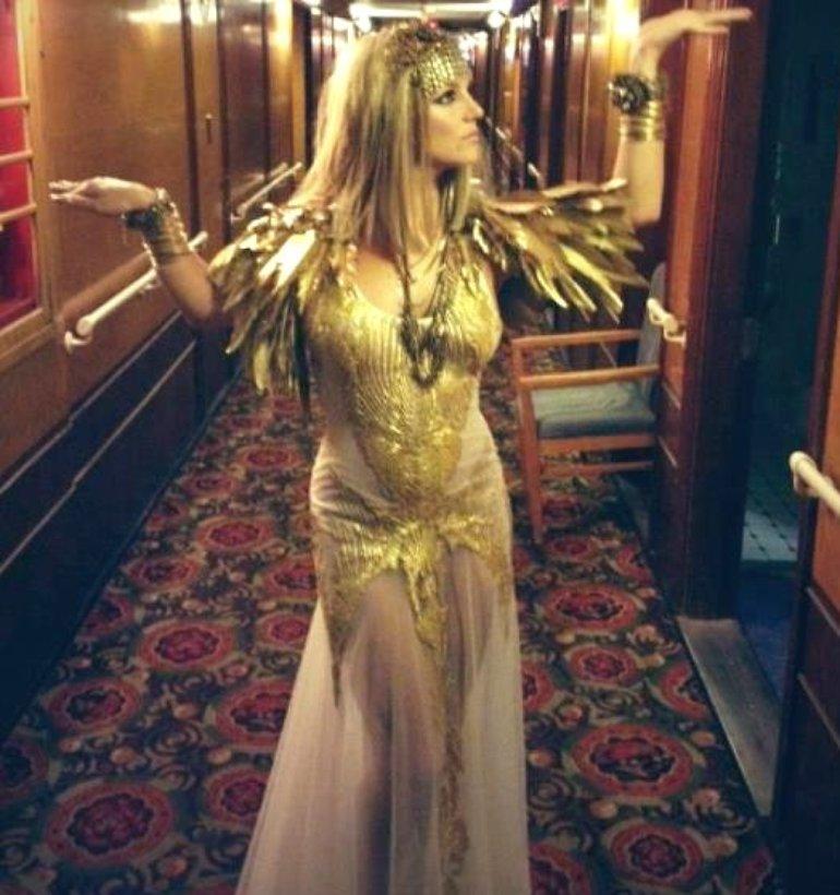 Brit in Cleopatra costume @Elizabeth Arden Fantasy Twist shoot