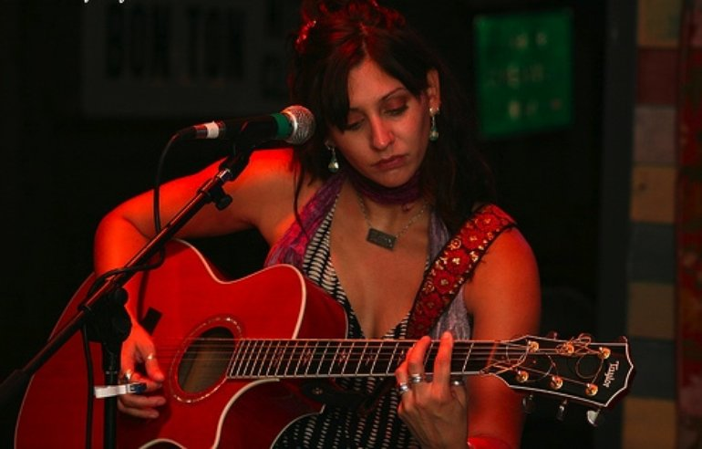 With Red Guitar