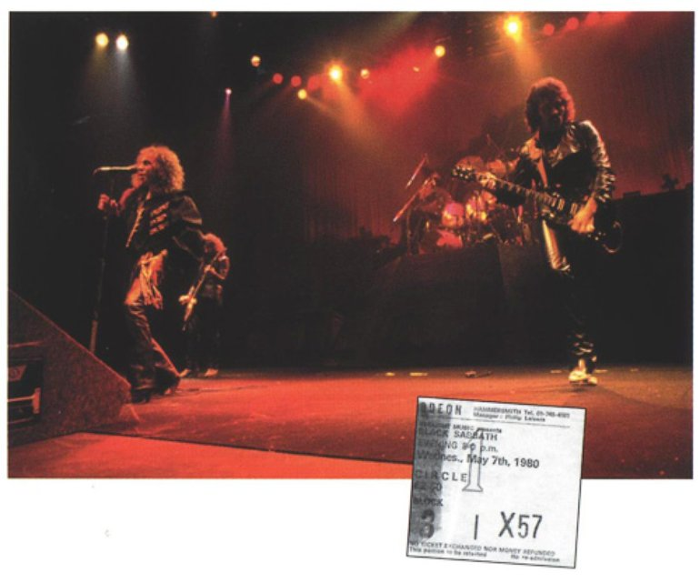 Black Sabbath 1980 with Ronnie James Dio