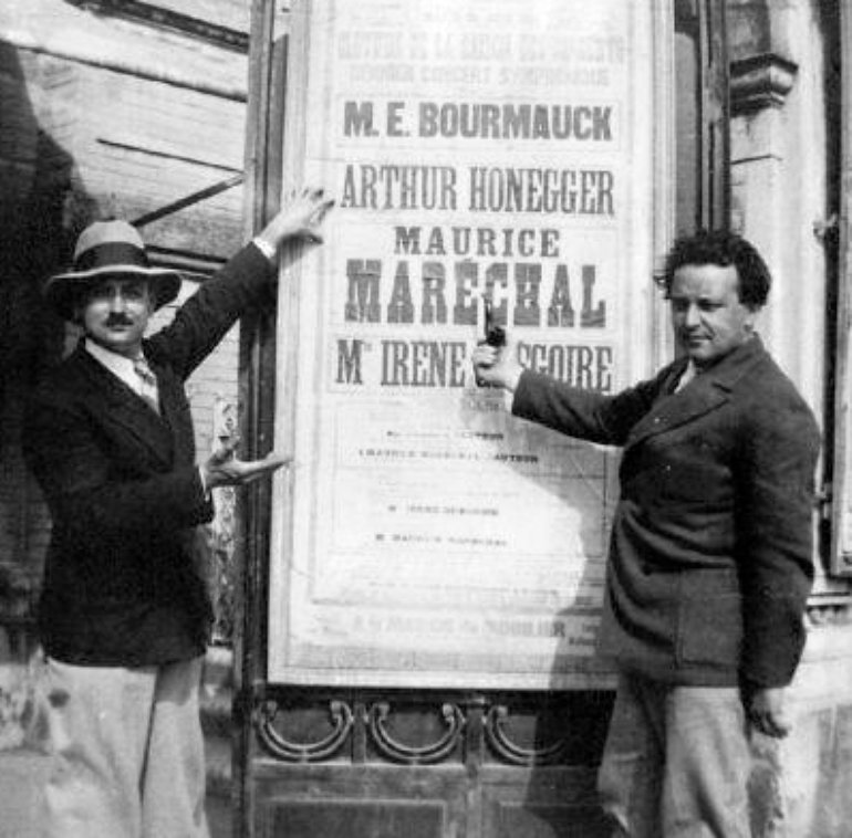 Arthur Honegger & Maurice Maréchal, Lyon, 1931