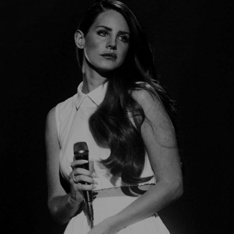 Lana Del Rey (Black and White)